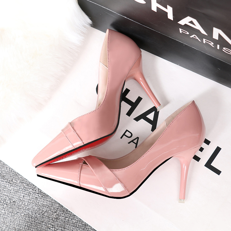 Leather High Heels Women Nude Heels Wedding Pumps For Ladies Pu Leather Cheap Woman Shoes Party Basic Pumps Hot Red Bottom Shoe аксессуар защитное стекло lg g4 ainy 0 33mm