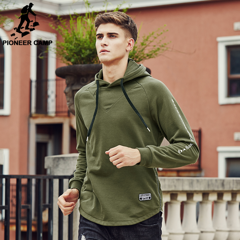 Aliexpress.com  Buy Pioneer Camp 2017 Brand clothing Sweatshirt Hoodie Hoodies men Army green ...