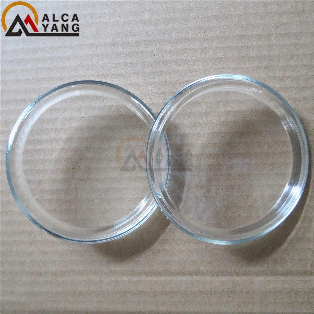 90mm luzes de nevoeiro vidro temperado 2 peças