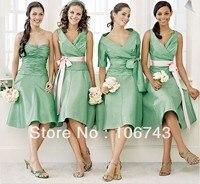 Free Shipping 2016 New Fashion Vestidos Formal Dress Short Design Green Bride Weddings Bridal Party Prom