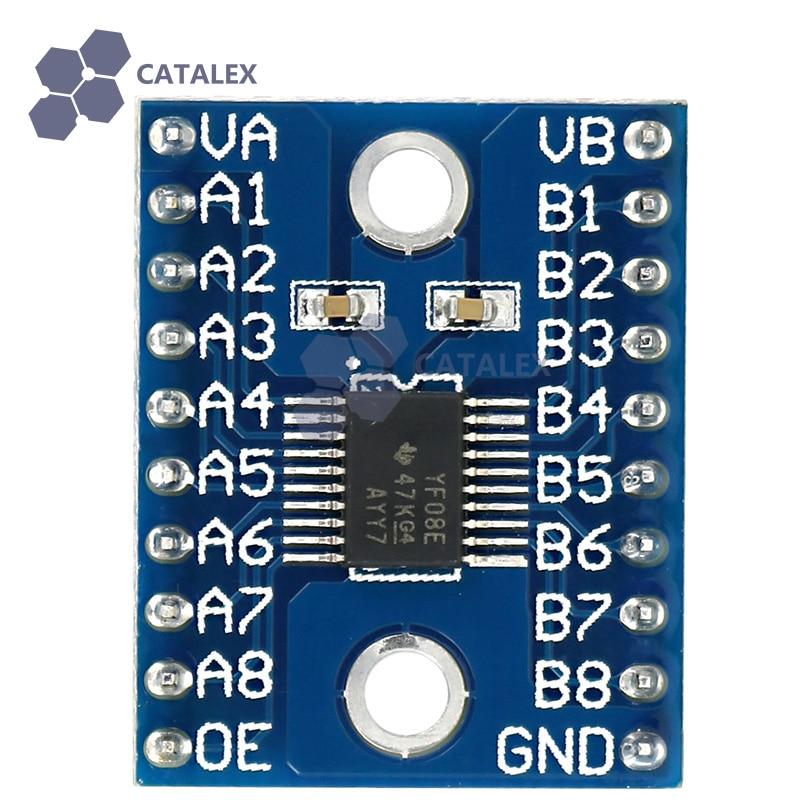 Logic сдвига уровня логический уровень конвертер Напряжение уровня-Shifting переводчик модуль 8-бит Bi-directional для Arduino