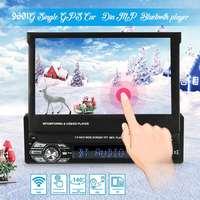 Universal Car GPS Navi Single 1 Din 7 Inch HD Touchs Screen DVD/CD/MP3/MP5 Player bluetooth GPS Navigation+Camera