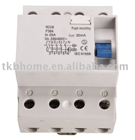 4pcs/lot 400V,40A  residual current circuit breaker(rccb)  free shipping to Europe