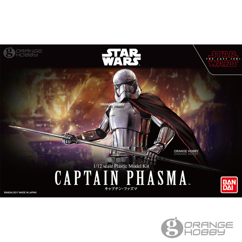 OHS Bandai Star War TLJ 1/12 Captain Phasma Assembly Figure Model Kits offer wings xx2615 special jc cuba aviation ei tlj 1 200 a320 commercial jetliners plane model hobby