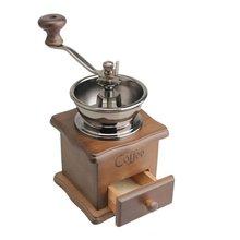 HGHO Especias Estilo Vintage mano de Mini De Madera del Grano de Café grinder