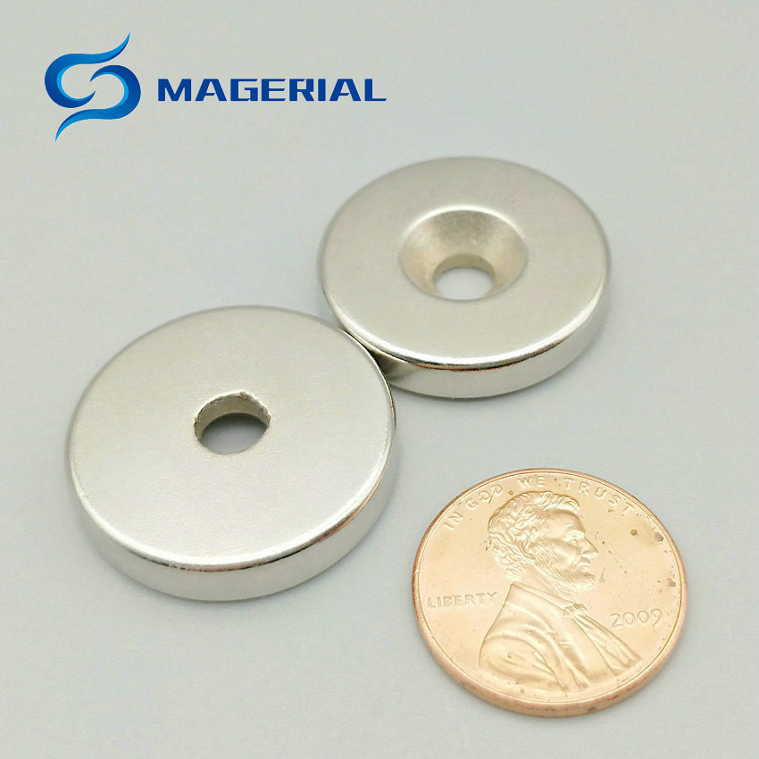 1 pack NdFeB Magnet about Dia. 20x5 mm thick M5 0.79'' Countersunk Screw Hole Grade N42 Neodymium Rare Earth Permanent Magnet 200 1000pcs pack ndfeb countersunk magnet dia 10x3 mm thick m3 screw countersunk hole n42 neodymium rare earth permanent magnet