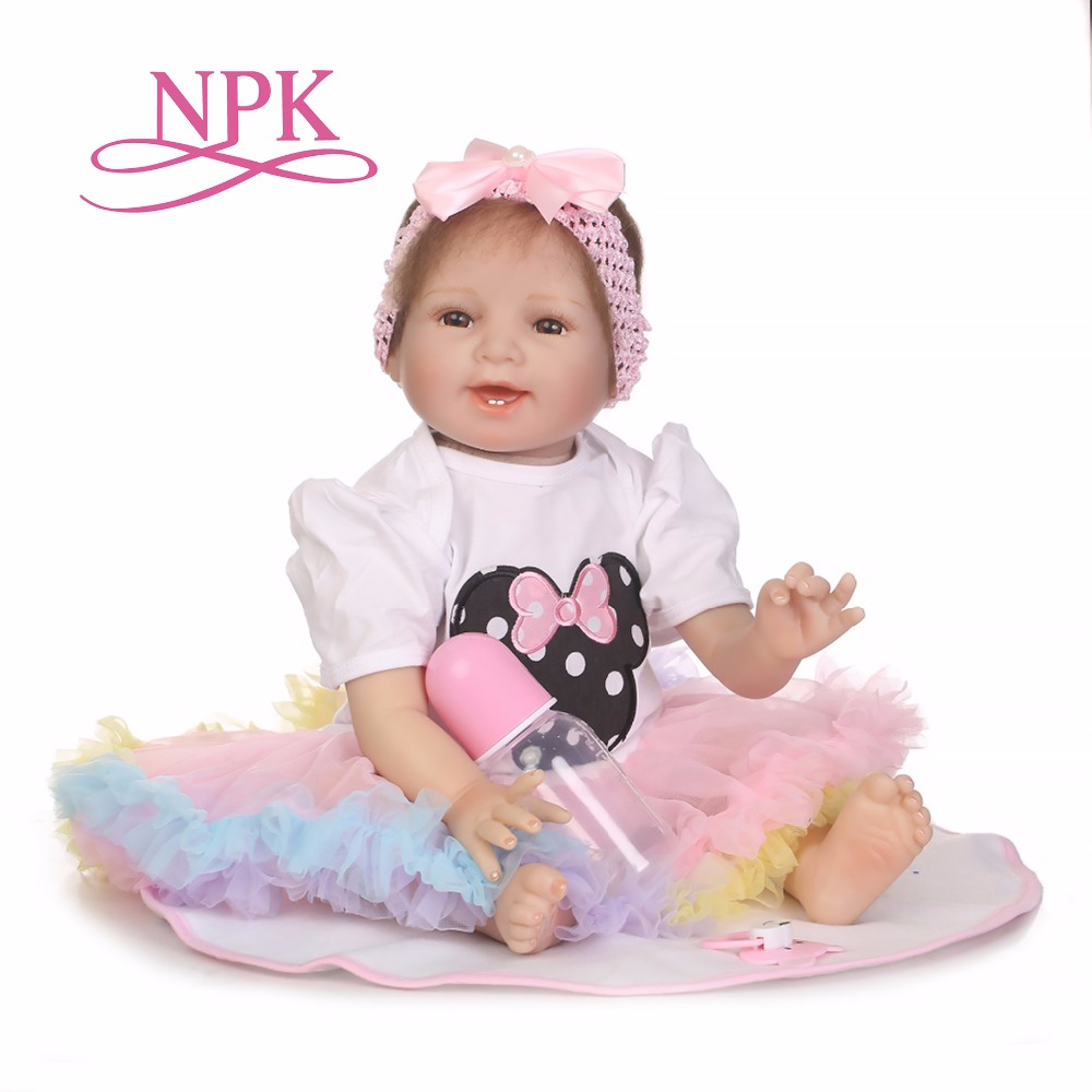 NPK hot sale lifelike reborn baby doll silicone vinyl wholesale bebe dolls fashion doll kisd toys Christmas gift new year gift new ucanaan 50 55cm silicone reborn doll playhouse toys npk doll toys fashion dolls for boys gift the best christmas gift
