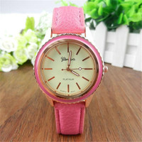 Cartoon Sika Deer Leather Band Analog Quartz Wrist Watch Luxury Women's Watches Famous Brands Leather Strap Wrist Watch  5*