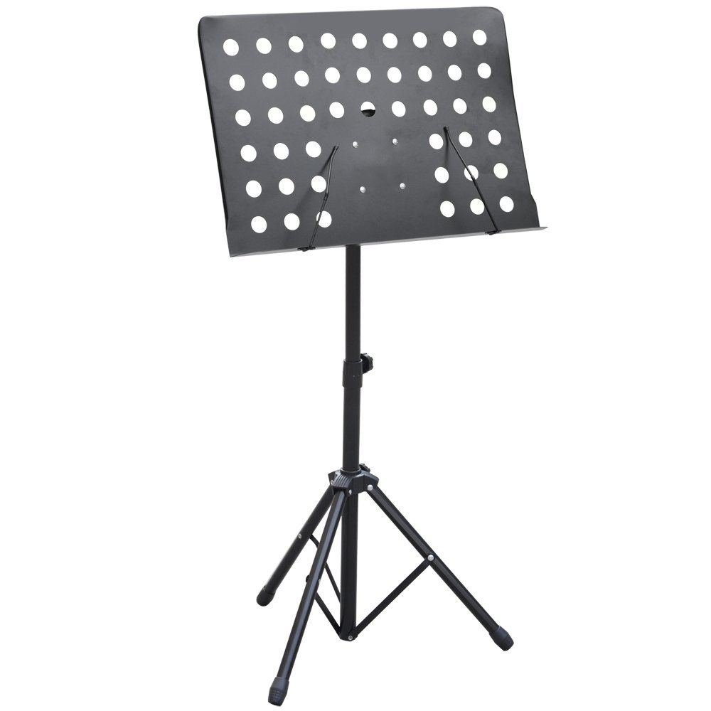 Heavy Duty Orchestral Sheet Music Stand Holder Height Adjustable Tripod Base, Black reichs b genesis
