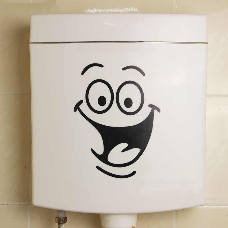 1PC ビッグ口トイレのステッカー壁の装飾 DIY ビニールホームデカールアート防水ポスター紙