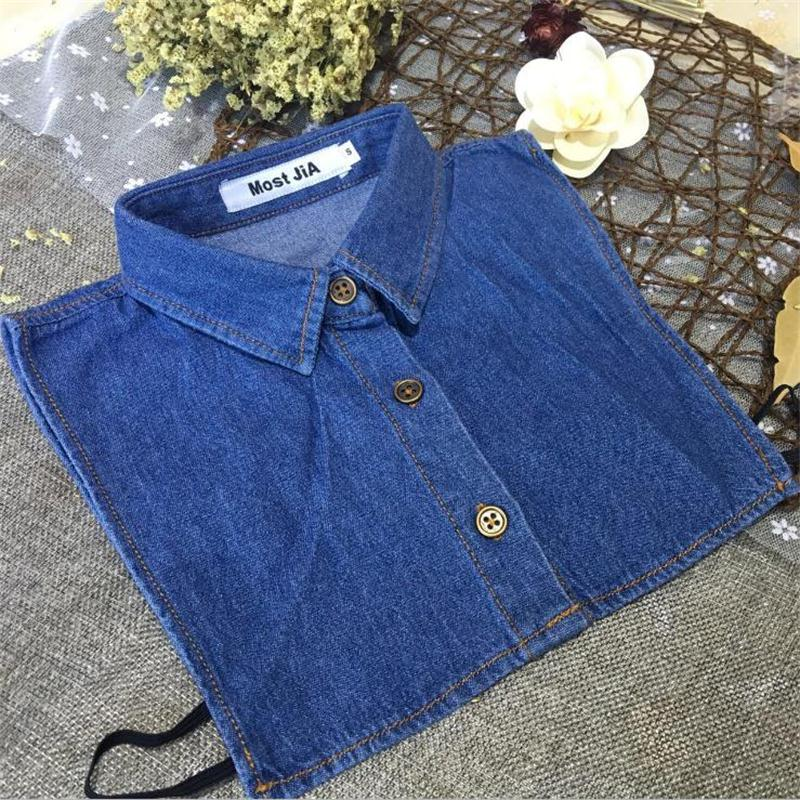 Denim Detachable Collars L, XL, XXL  For Man Women Fake Collar Blue Classic Jeans Shirt Collars Large All Matching Adult Unisex
