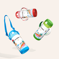 VALUEDER 300ml Baby Insulation Water Bottle Children Stainless Steel Thermal Vacumm Flask Drinking Straw Cup with Handle