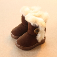 Winter Children Boots Thick Warm Shoes Cotton Padded Suede Boots For Girls Snow Boots Kids Shoes