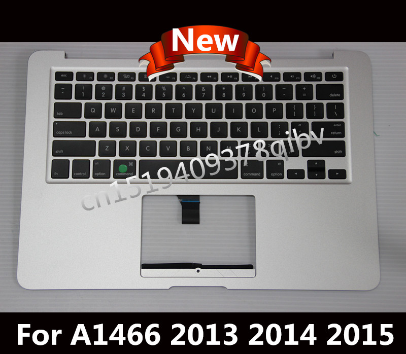 Brand New US Topcase for Macbook Air 13.3 '' A1466 Palmrest Top case With US keyboard No Touchpad No Backlit 2013 2014 2015 2016 new for macbook air 13 topcase upper top case palmrest with tr turkey keyboard a1466 2013 2014 2015