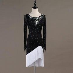 Сексуальные Латинской платье для танцев для Для женщин с открытой спиной бальные ча-ча Сальса Танго практика платья самба румба одежда для