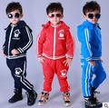 2017 winter Thick children's clothing set brand Costume Boy kids sport suits patchwork HipHop dance pant & sweatshirts With hood