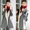 Las mujeres embarazadas sueltos mujeres de gran tamaño de punto de lana de costura abrigo de cachemir manga de la chaqueta de la rebeca encapuchada de las mujeres
