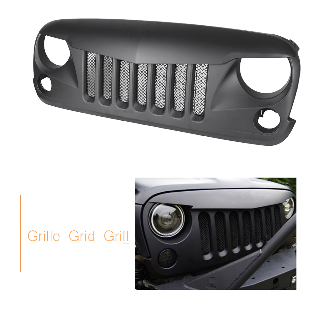 Pour Jeep Wrangler JK Avant Robuste Eagle Eye Grill Insectes Preuve Maille Grille 2007-2017