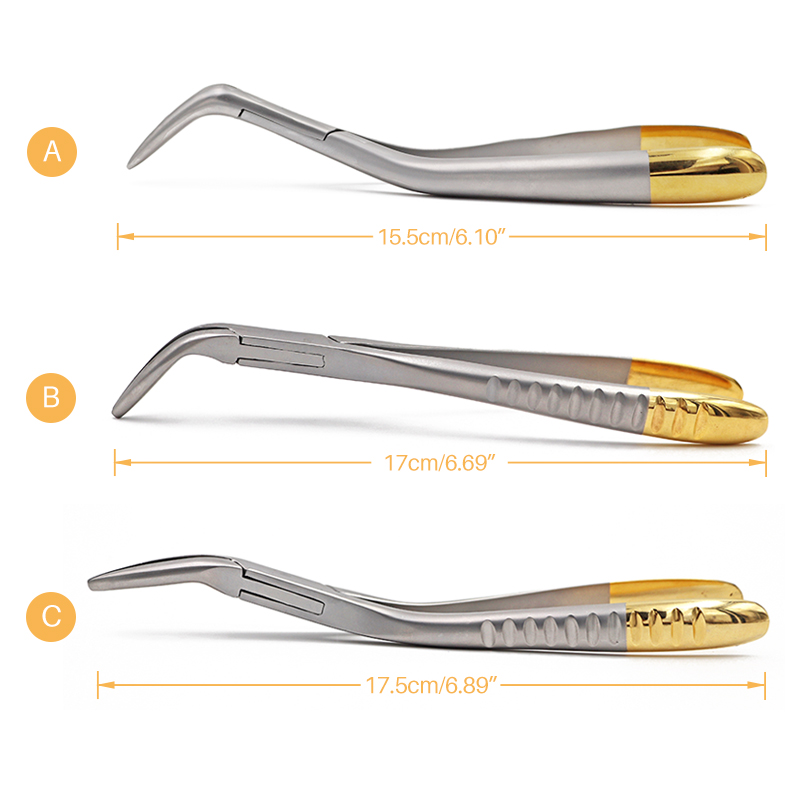 1pc Dental Root Residual Fragment Forcep Minimally Invasive Extraction Broken Pliers Upper Jaw Lower Mandible Universal