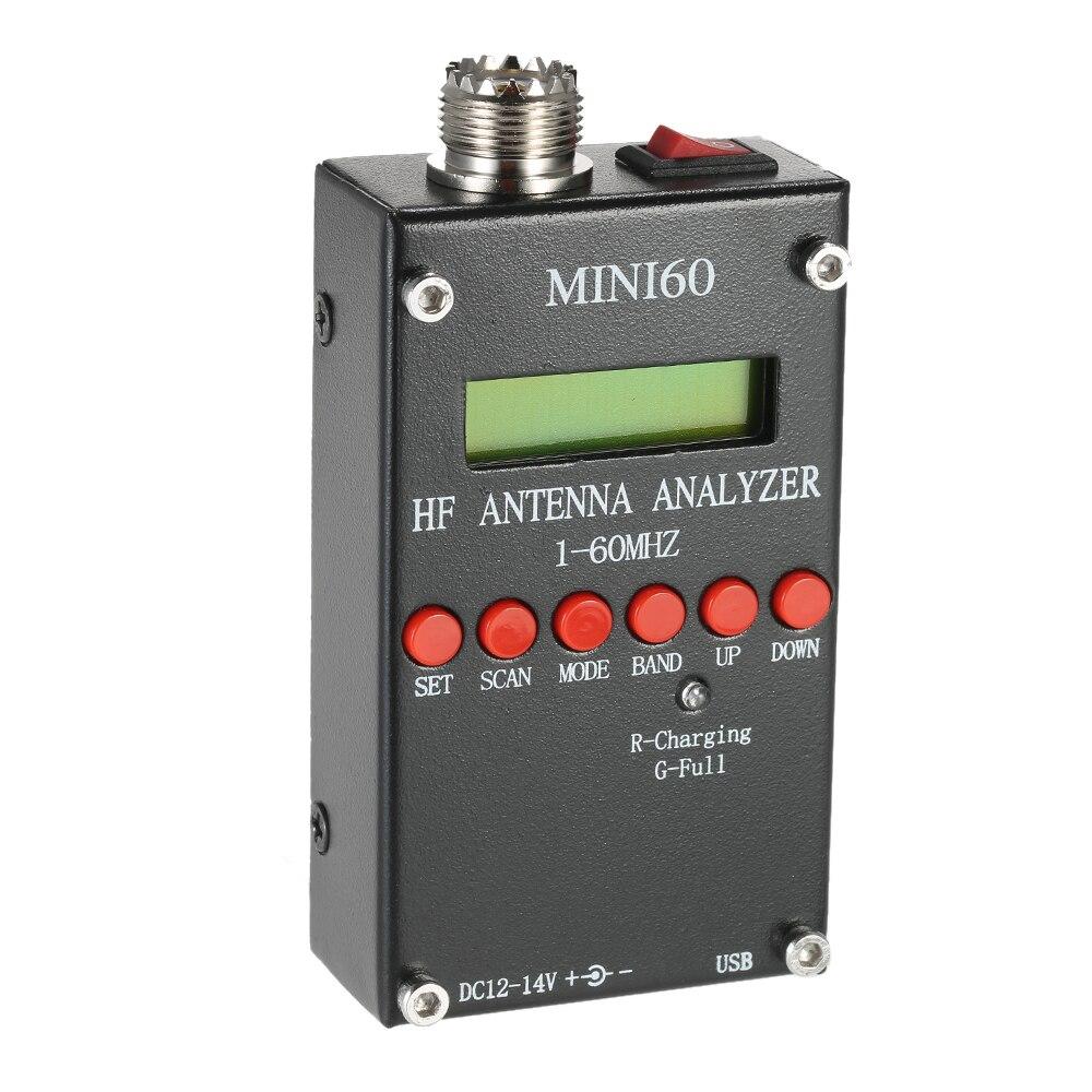 Mini60 Meter Analyzer Antenna 1-60 mhz SARK100 AD9851 HF ANT SWR per Ham Radio Hobbisti