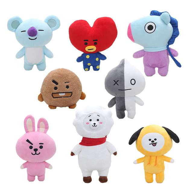 Aliexpress.com : Buy Bts Kpop Bangtan Boys BTS BT21 Plush Toy Doll TATA VAN COOKY CHIMMY SHOOKY ...