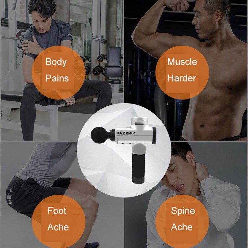 Professionnel soulager la douleur muscle Massage pistolet Theragun profonde Relaxation thérapie corps vibrant masseur outils Fitness et Gym outil - 4