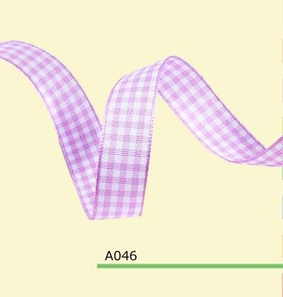 Purple pink tartan 16mm 19mm plaid Grosgrain Ribbon yard