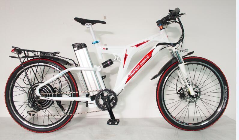 RisunMotor livraison gratuite cadre de vélo blanc 48 V 1000 W Super X8 Ebike + 48 V 20Ah SAMS Tube de siège batterie Lithium Ion vélo électrique