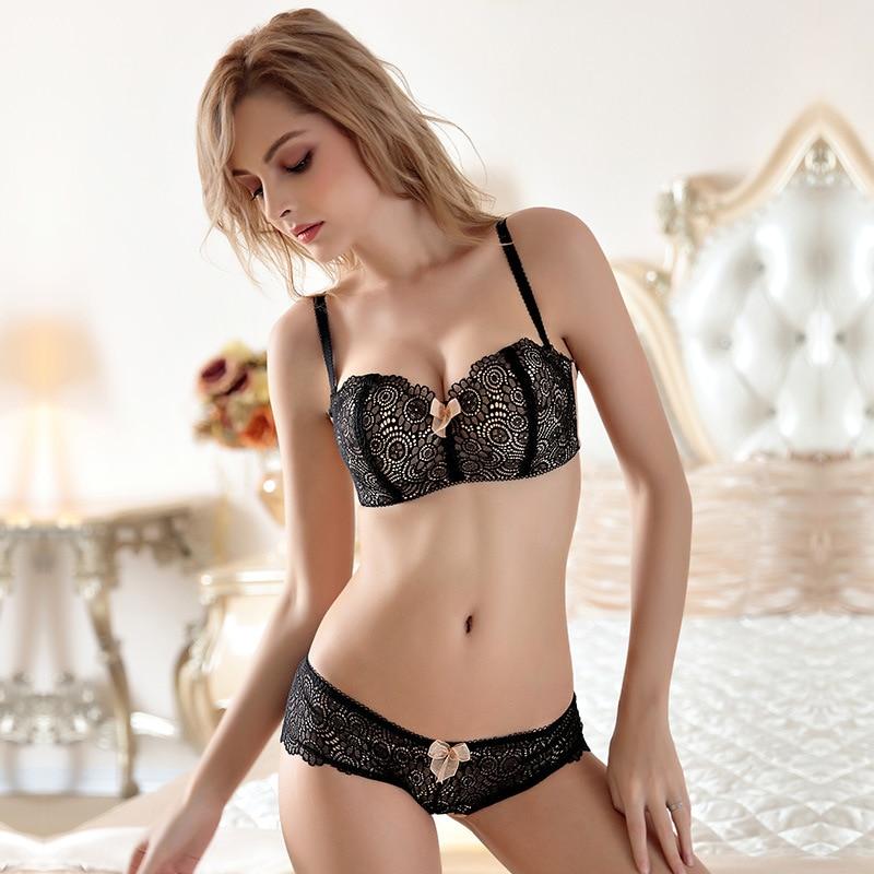 924c03d3ca1fa new 2018 woman underwear lace bra set comfortable cotton detachable  shoulder strap girl bra set-in Bra & Brief Sets from Underwear & Sleepwears  on ...