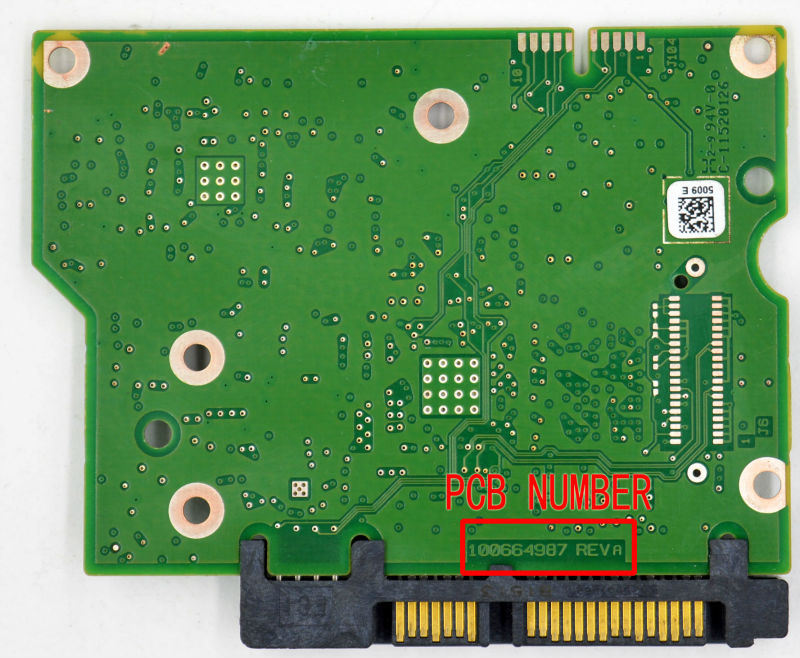 HDD PCB FOR SEAGATE/Logic Board/Board Number: 100664987 REV B or REV A