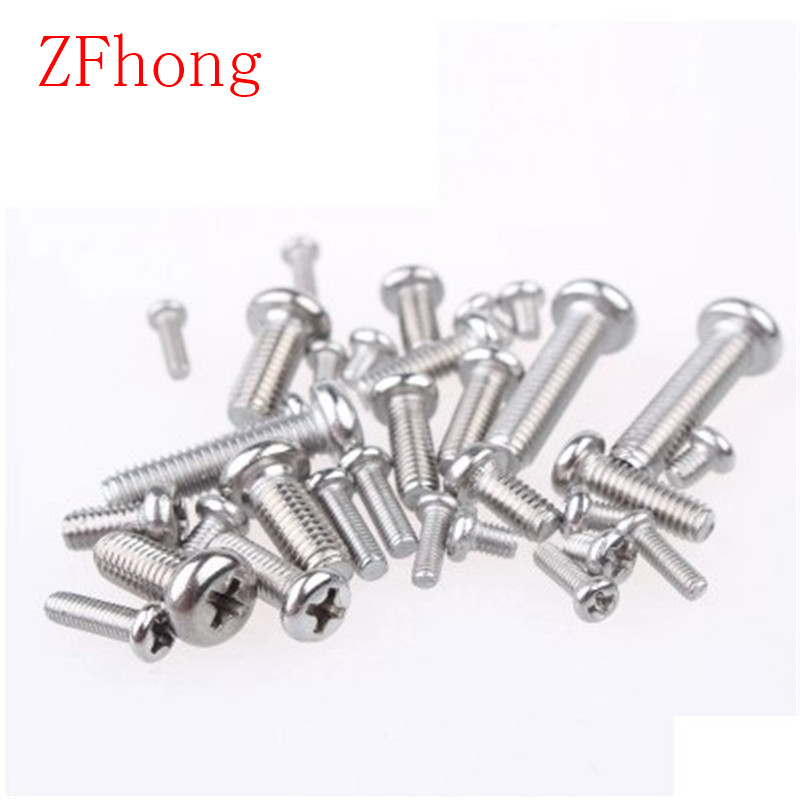 100pcs m3 screws m3*4/5/6/8/10/12/14/16/20/25/30 stainless steel phillips round pan head machine screw 50pcs iso7380 m3 5 6 8 10 12 14 16 18 20 25 3mm stainless steel hexagon socket button head screw