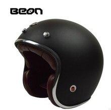 BEON FIBERGLASS moto vintage motorcycle helmet retro casco jet half scooter helmet capacete casque Size  M L XL ECE approval