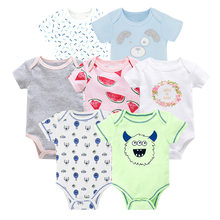 7pcs/set Newborn Boy Photography Props New Baby Girl Clothes Cotton Baby Bodysuits bebe Clothes Body for Infants New 0-2 Year(China)