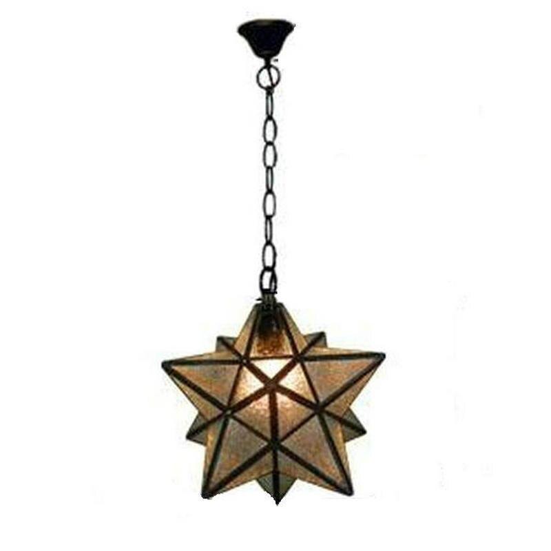 Gl Monrovian Moravian Star Pendant