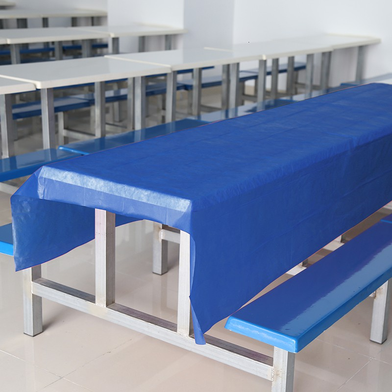 Disposable Rectangle Table Covers Plastic Table Cloths Wedding Baby