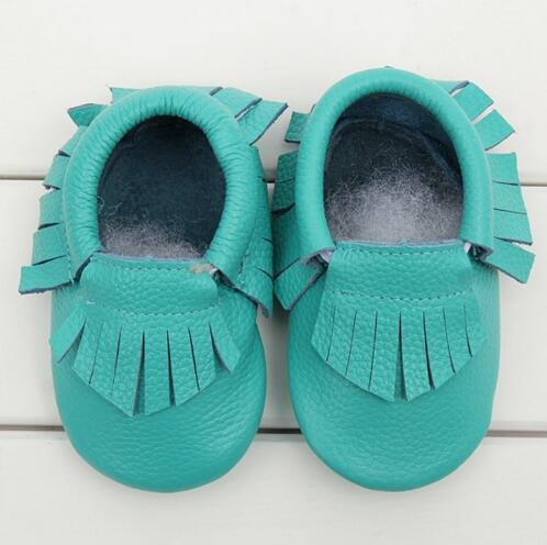 0-24 M Genuine Leather tassels Baby moccasins Girls Newborn Anti-slip infant Shoes Toddler First Walker Soft Moccs Bebe boots