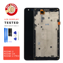 цены For Xiaomi Redmi 2 LCD Display Digitizer + Touch Screen Replacement Hongmi 2 Redmi 2 Pro Prime 2A Phone Parts With Free Tools