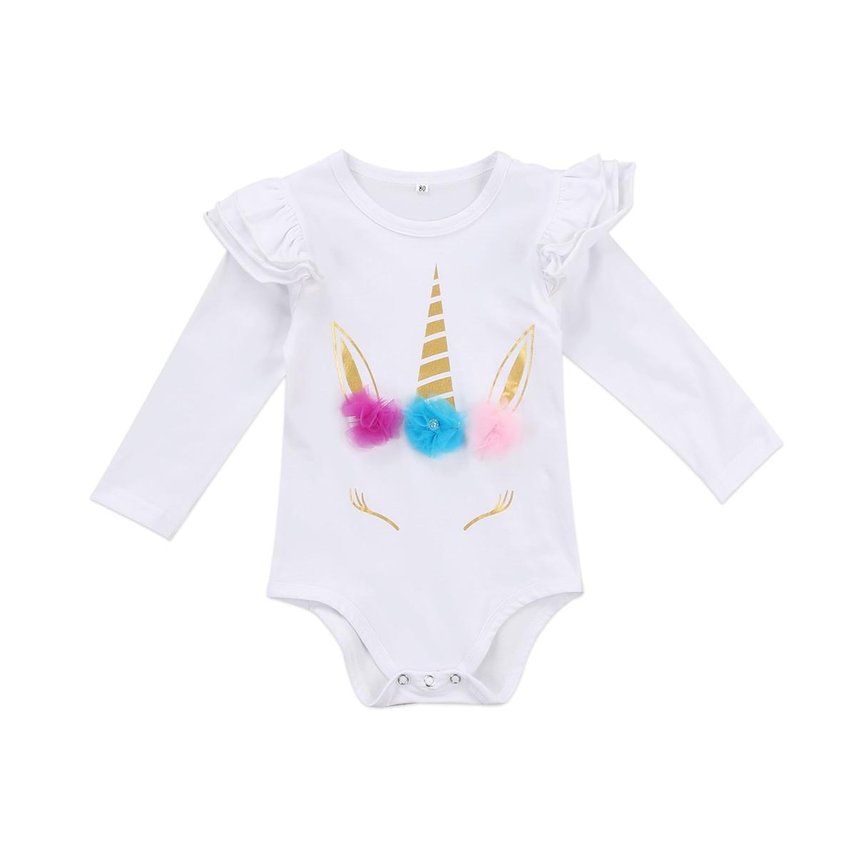 2017 New Baby Girls Clothing Newborn Baby Girl Ruffles