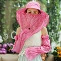Солнца женщин летом открытый складной шлем солнца анти-уф sunbonnet