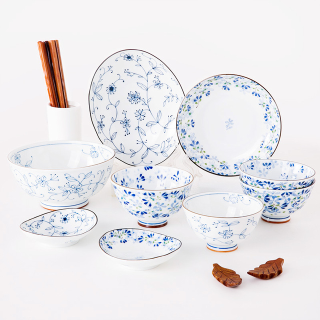 Made In Japan 11 Pieces Ceramic Cutlery Floral Printed Under Glazed Porcelain Dinner Sets Food Container  sc 1 st  AliExpress.com & Made In Japan 11 Pieces Ceramic Cutlery Floral Printed Under Glazed ...
