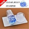 Nail Art Stamper y Raspador De Silicona Transparente de Malvavisco de Uñas Consejos Decoraciones Clear Jelly Nail Art Stamper 25593