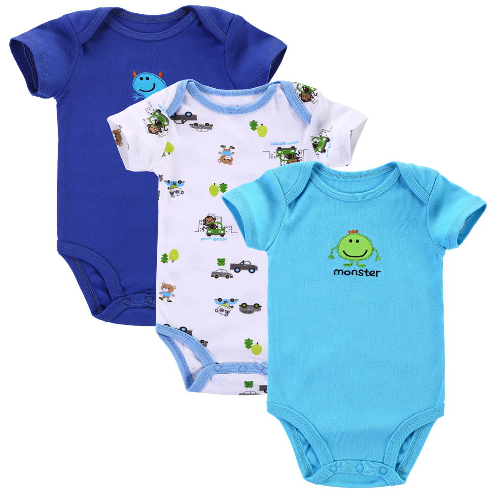מוצר - 3pcs/lot 2017 Baby Boys Girls Clothes Next Cute ...