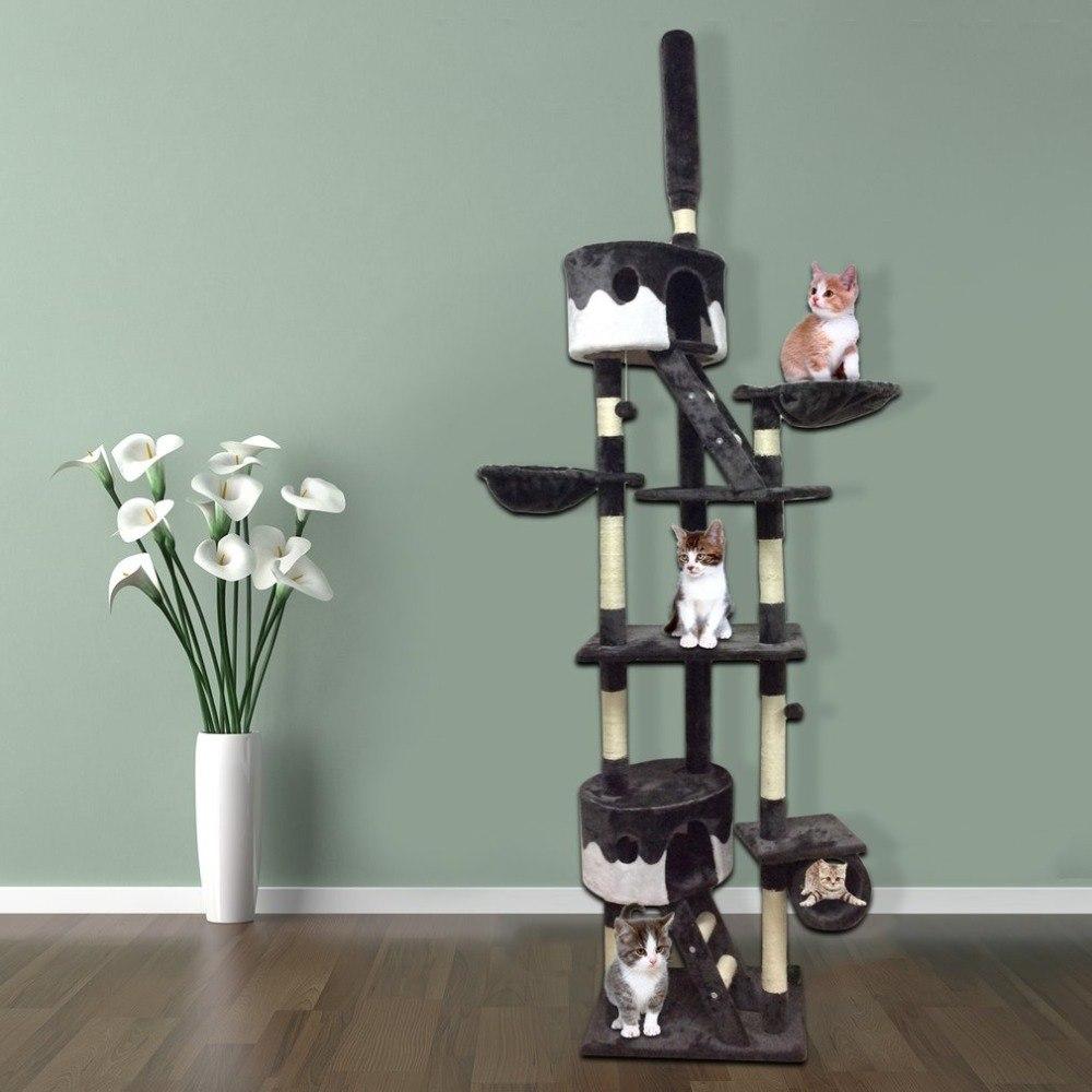 Удобная рамка для альпинизма 240 260 см Высота кровать для домашних животных кошка дерево когтеточка прекрасная кошка играющая игрушка корабл