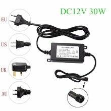 IP67 Waterdichte DC12V 30 W Transformator Voeding Driver voor LED Licht Outdoor of Indoor EU, VS, UK, AU plug