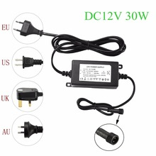 IP67 Waterproof DC12V 30W Transformer Power Supply Driver for LED Light  Outdoor or Indoor EU,US,UK,AU plug