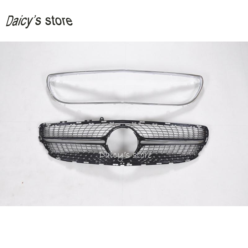 Diamond Grill For Mercedes Benz Cls Cl W218 Facelift Sedan Auto Front Grille 2017 2018 Cls300 Cls350 Cls450 Cls500 In Racing Grills From