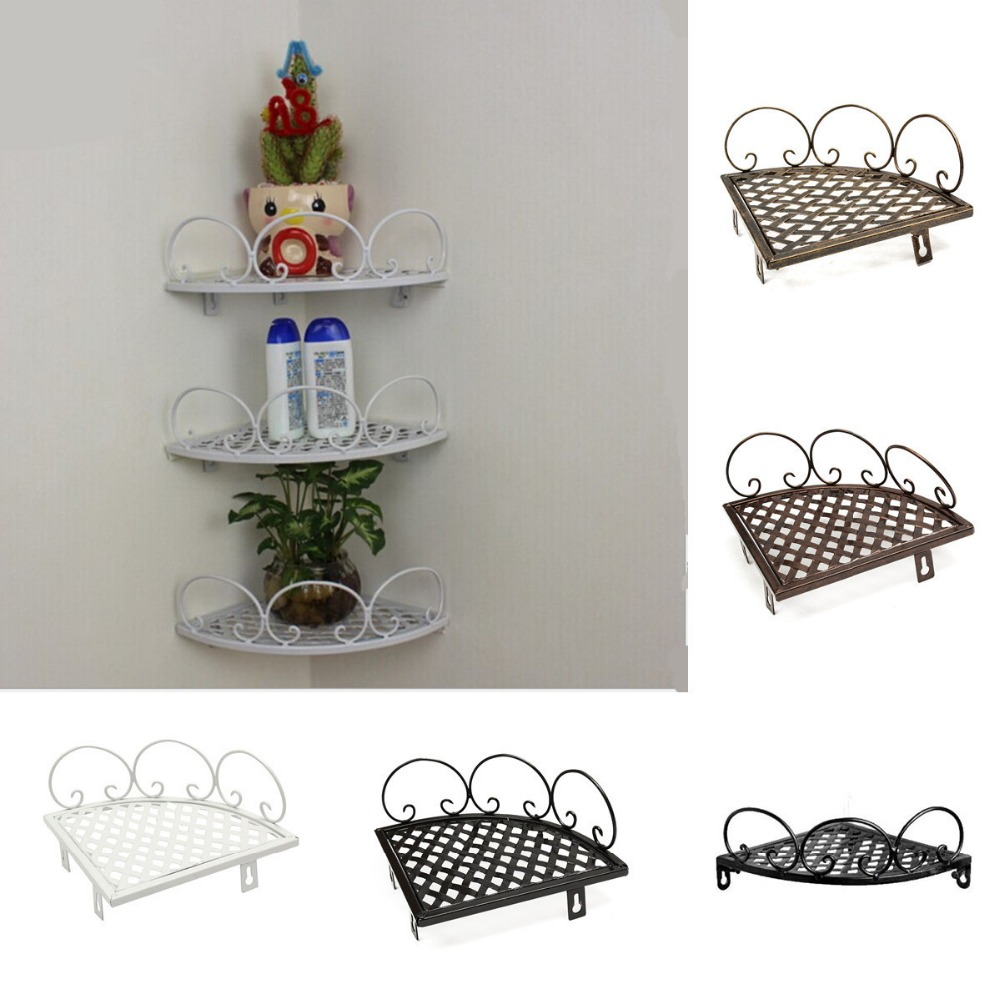 Accessories Hanging Pot Kitchen Rack Corner Bathroom Shelf Wall-Mounted Holder