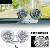 Muti Fuction Car Fan USB Small Fan For 12V Car 24v Large Truck Van With Double Head Fan