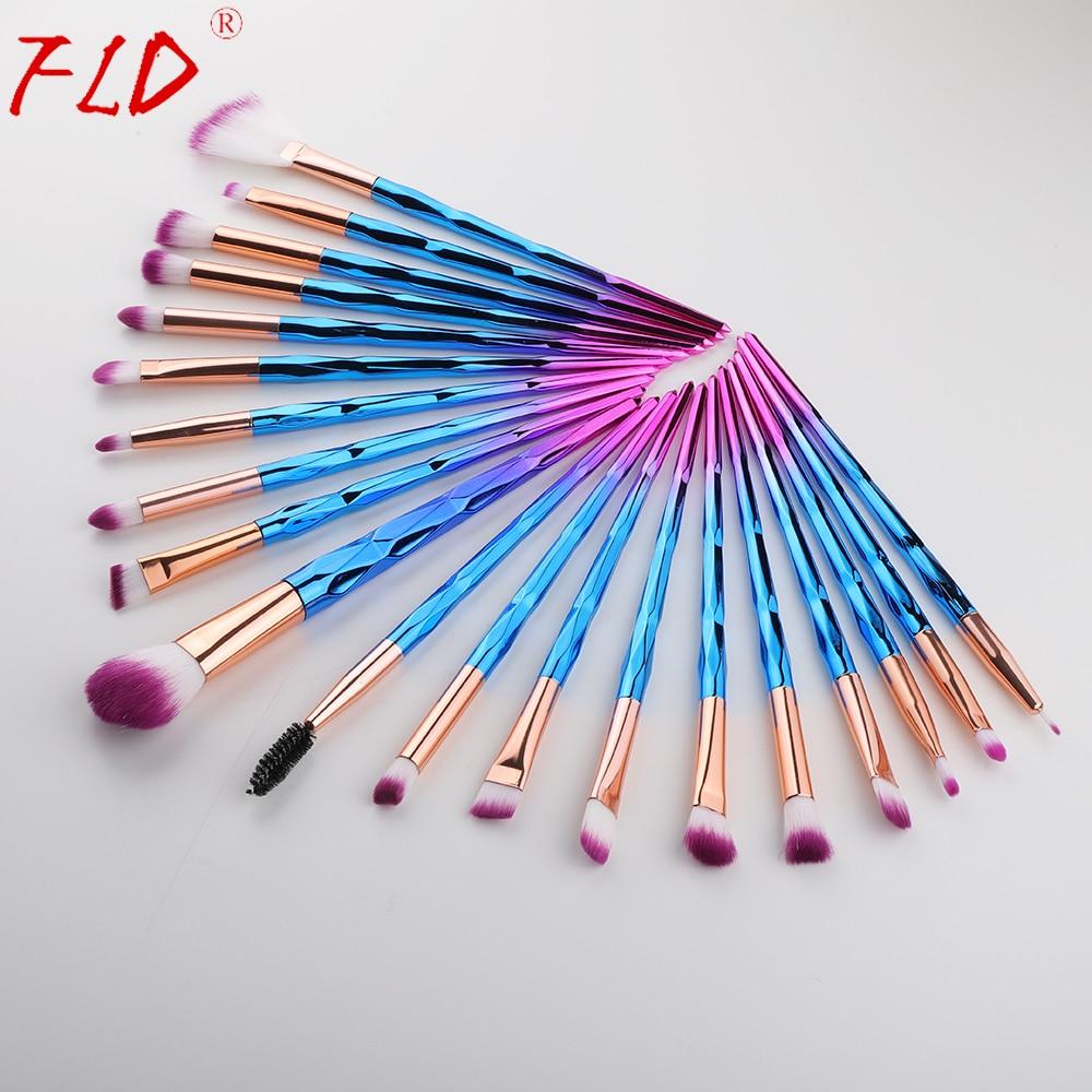 FLD 20Pcs Professional Eyelash Makeup Brushes Set Eye Shadow Brush Eyebrow Brush Foundation Mascara Brushes Cosmetic Tools Kits