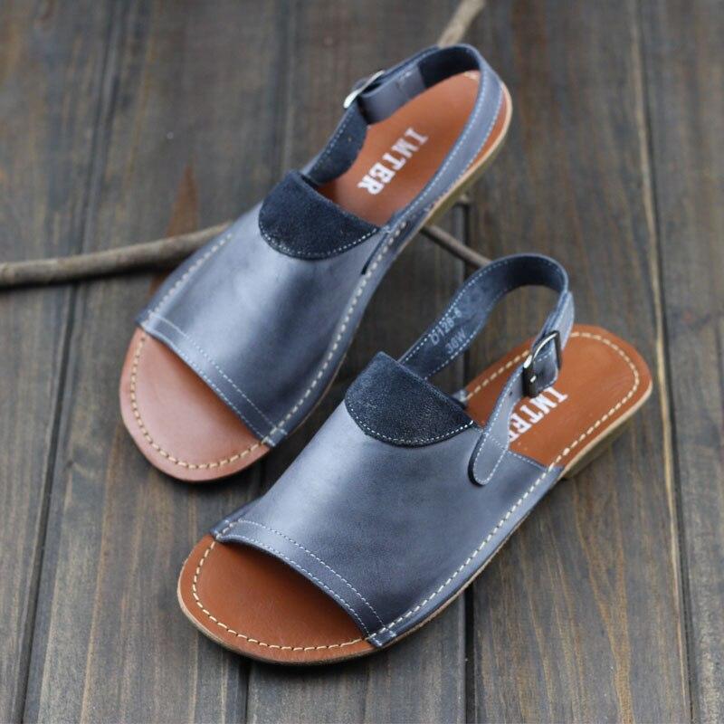 Woman Shoes Gladiator Women Sandals Genuine Leather Ladies Summer Shoes Female Footwear (1021 2)